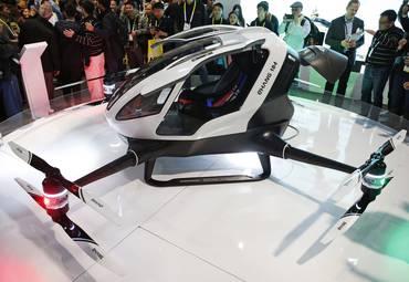 #CES | Представлен автономный одноместный летающий дрон-такси