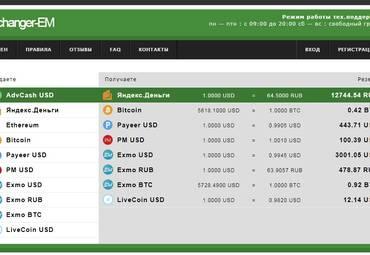 Обзор онлайн обменника Exchanger-EM