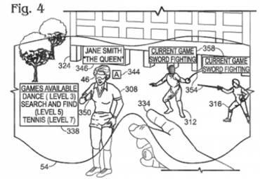 В патенте Microsoft описывается интерфейс