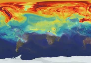 #видео | Как углекислый газ распространяется в атмосфере Земли